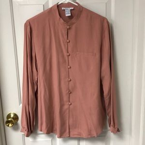 Anna and Frank silk rose blouse large